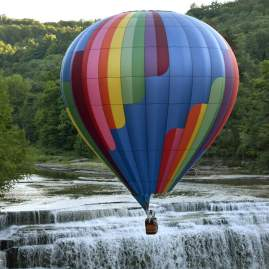 Until you scale a waterfall on a hot air balloon, you have not lived.