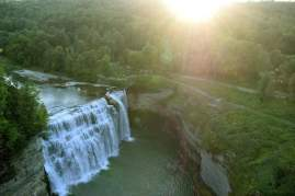 Letchworth Falls, NY from the comfort of a hot air balloon ride