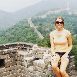 Highlight of college: study abroad trip to a China and getting to scale the Great Wall.