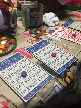 Classic bingo and homemade pizza for family Christmas? Why the heck not?!